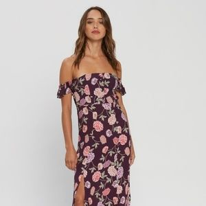 Flynn Skye Sz S Bardot Maxi Dress in Full Bloom